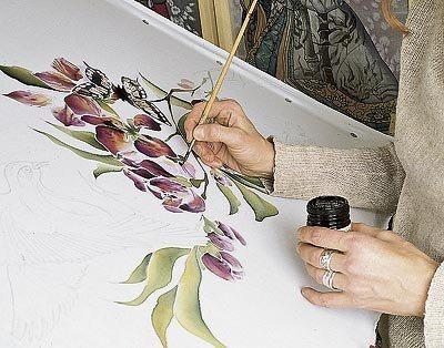 Роспись батиком по ткани рисунки